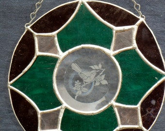 Handmade Stained Glass Suncatcher with Chain