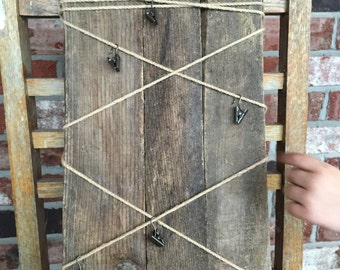 Rustic memo board picture holder message center wooden pallet boards