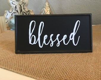 blessed chalkboard sign
