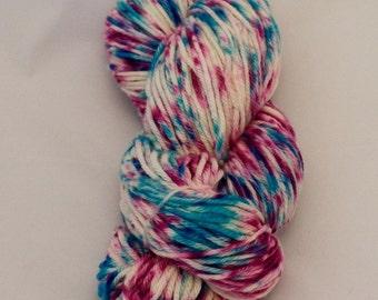 Celestial Cerise- Merino Worsted Weight Yarn- Hand Dyed- OOAK
