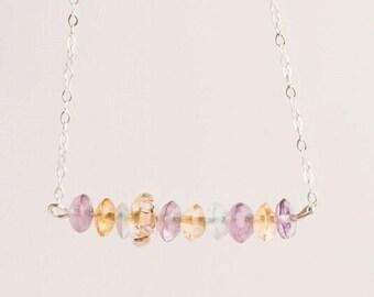 Fluorite Line Necklace