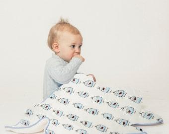 Fish in Bags Baby Blanket