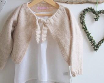 Organic hand knit cardigan