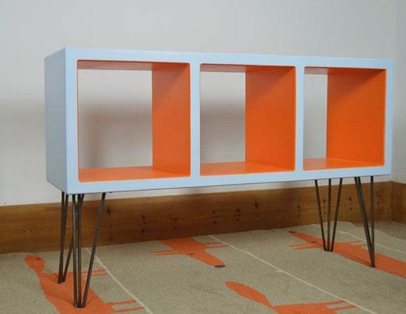 Retro Vinyl Storage Hairpin Furniture Mid Century Modern
