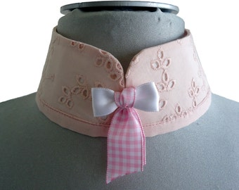Pink removable mao collar soft nynah