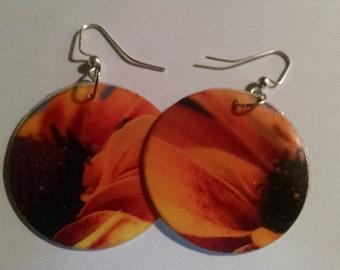 Brown-Eyed Susan reversible earrings
