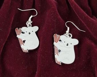Koala Enamel Earrings