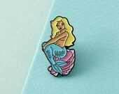 Mermaid Enamel Pin with clutch back // lapel pins, nautical // EP077