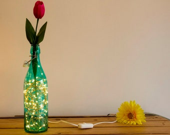 Glow lamp in bottle
