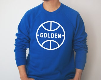 Golden Vintage Ball Crewneck | Hella Healthy | Plant Based Apparel | Veggie Centric | Kale | I Stay Woke | Golden | Hoops