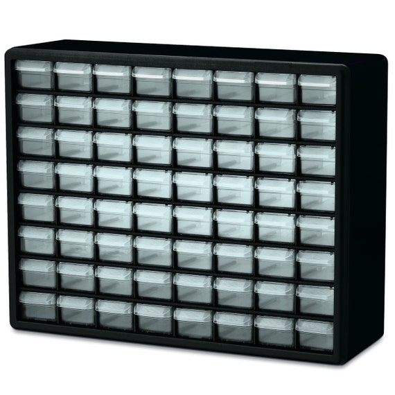 64 Drawer Plastic Storage Organizer Cabinet container great for beads supply, Size 20 x 15 7/8 x 6 3/8 inch it is Stackable Box beads supply