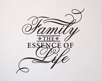 Family The Essence of Life Vinyl Wall Decal Indoor/Outdoor Vinyl Fast Shipping