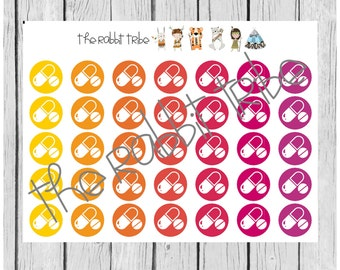Daily Dots - medicine, pills, medication stickers - planner stickers