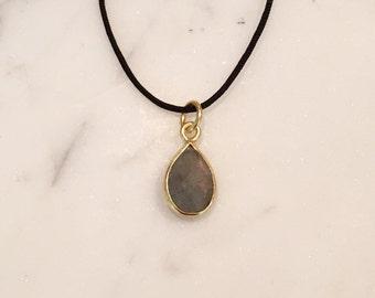 Laboradite  Charm Pendant String Necklace