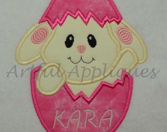 Bunny Egg Applique Design