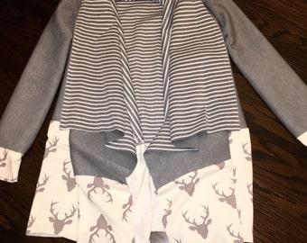 Gray Buck Forest drape front cardigan