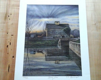 Thomas Hermansader, Going Home, Lithograph, Limited Edition, Signed by artist, Certified art, Abstract, Vetterlein art, UPPealingToU