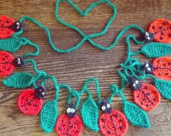 Crochet ladybird bunting