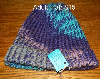 Multicolored Handmade Adults Knitted Hat