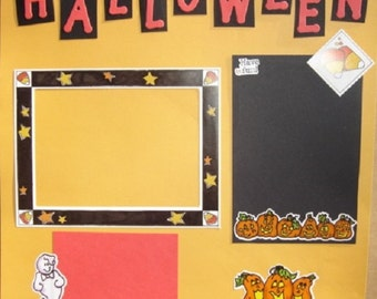 Halloween Premade 12 x 12 Scrapbook Pages