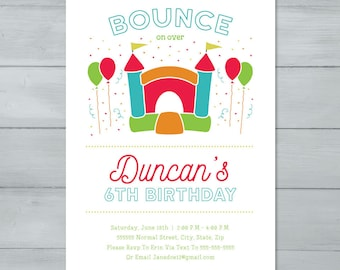 Bounce House Birthday Party Invitation  |  Jump Birthday Party Invitation  |  Bounce House Invitation  |  Jumping Birthday Invite