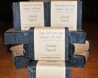Activated Charcoal Bar Soap - All Natural - Handmade - Artisan - Handcrafted - Cold Processed - Vegan
