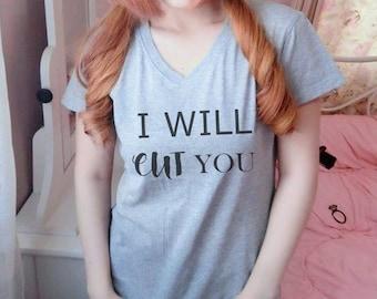 I will cut you shirt S M L XL short sleeve shirt women tshirts