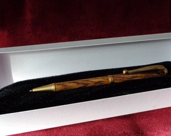 satin gold pen of Cocobolo wood