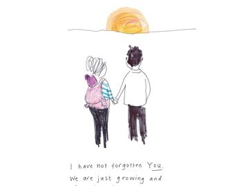 FOR MY SOULMATE -print from the 'Sketchy Muma' series by Anna Lewis
