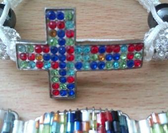 2 multi bead bracelets