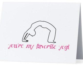 Yoga Cards-You're My Favorite Yogi