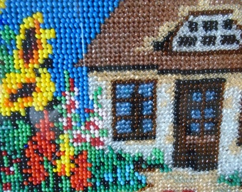 beaded cottage picture