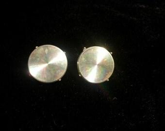 Vintage Silver Mirror Clip On Earrings