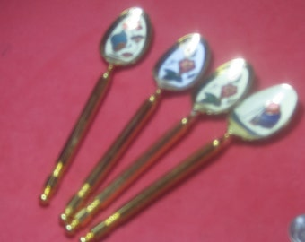 Beautiful Vintage baby Spoons Asian made