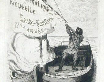"Etching Frontispiece for ""L'Illustration Nouvelle"" Eaux-Fortes 6eme Annee 1873"