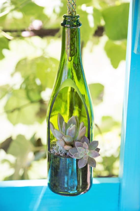 SALE Wine Bottle Planter Hanging