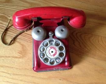 Vintage toy telephone ~ Red Speedphone