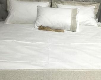 HEMP Organic Bedding/set of sheets: sheet, pillow cases, duvet cover/Fitted Flat sheet/Kids Twin Full Queen King custom size/Natural Bedding
