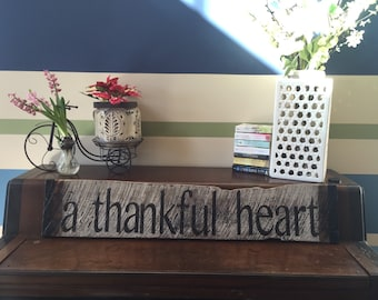 Thankful Heart Sign