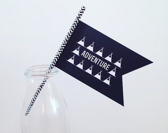 Adventure teepee paper flag
