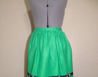 Vintage green German dindel apron