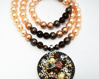 "Necklace with  Swarovski crystals ""Lolita Fuerte"""
