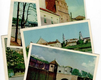 Kaunas Lithuania Set of 5 Vintage Postcards (1965)