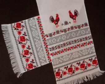 Handmade Ukrainian Traditional Embroidered RUSHNYK For Wedding Ceremony Or Home Decoration/Rushnik/Ukrainian Towel