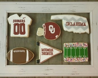 OU - Oklahoma Sooner cookies - Can be made for Football, Basketball or Baseball