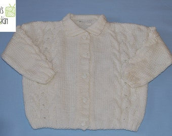 "Children's jacket ""Mandy"" knitted Gr. CA 74-80"