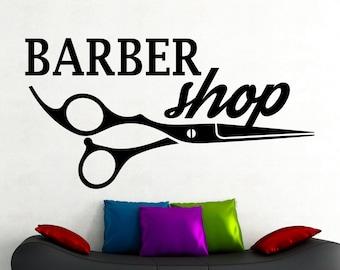 Barber Shop Decal Etsy - Vinyl stickers design