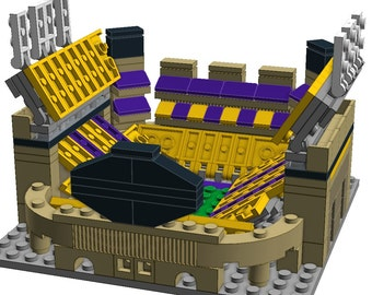 Mini LSU Tiger Stadium LEGO Model