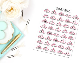 Kawaii Dry Cleaning Planner Stickers