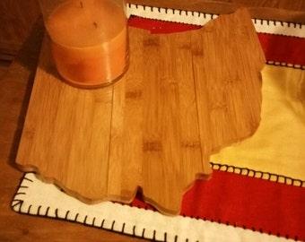 Bamboo Ohio trivet